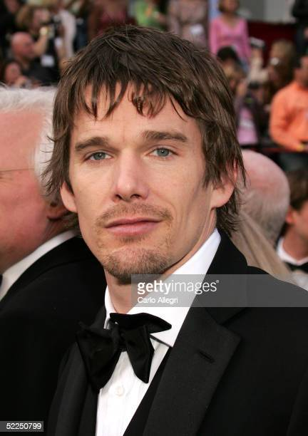 Actor/writer Ethan Hawke nominated for Best Adapted Screenplay for his work on the film adaptation of 'Before Sunset' arrives for the 77th Annual...