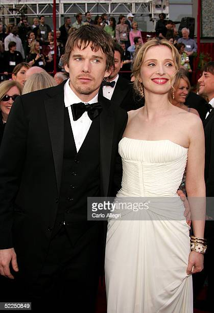 Actor/writer Ethan Hawke nominated for Best Adapted Screenplay for his work on the film adaptation of 'Before Sunset' and Julie Delpy nominated for...