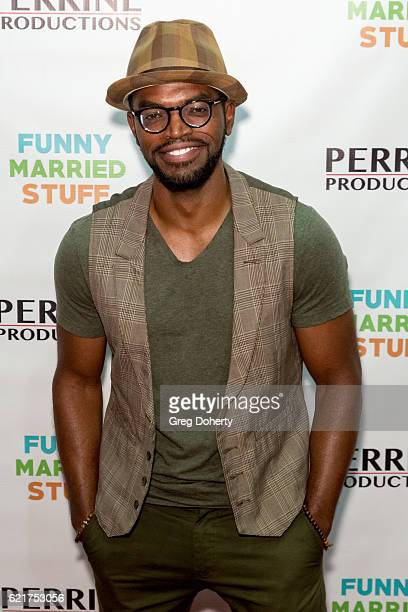 Actor/Writer Hardy Williams arrives for the Screening Of Perrine Productions' 'Funny Married Stuff' at the ACME Comedy Theatre on November 7 2016 in...
