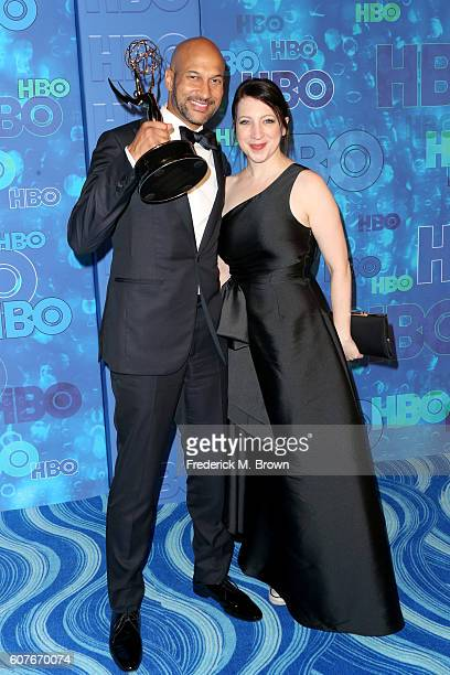 Actor/writer KeeganMichael Key and producer Elisa Pugliese attend HBO's Official 2016 Emmy After Party at The Plaza at the Pacific Design Center on...