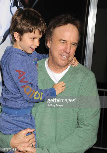 Actor/writer Kevin Nealon and son Gable Ness Nealon arrive at the Los Angeles premiere of '3 Days To Kill' at ArcLight Cinemas on February 12 2014 in...