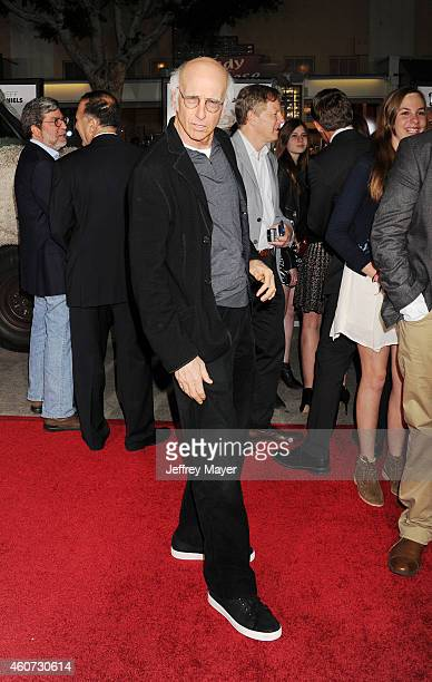 Actor/writer Larry David arrives at the Los Angeles premiere of 'Dumb And Dumber To' at Regency Village Theatre on November 3 2014 in Westwood...