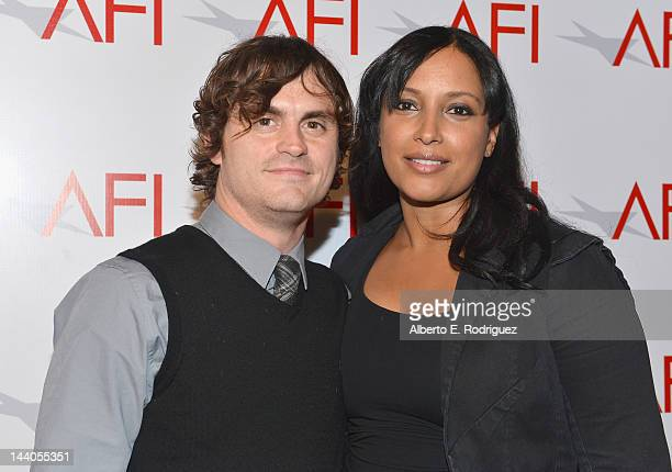 Actor/writer Leandro DiMonriva and director Anika Poitier attend the 2012 AFI Women Directors Showcase at Directors Guild Of America on May 8 2012 in...