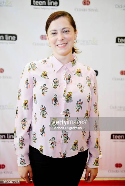 Actor/writer Rachel Bloom arrives at Teen Line 2018 Food For Thought Brunch hosted by Rachel Bloom at UCLA Carnesale Commons on April 22, 2018 in Los...