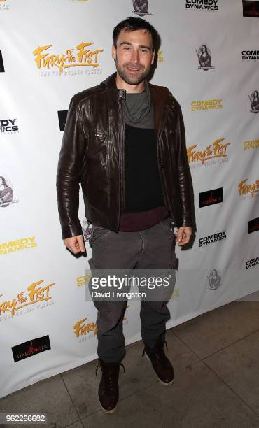 Actor/writer Sean Stone attends the premiere of Comedy Dynamics' The Fury of the Fist and the Golden Fleece at Laemmle's Music Hall 3 on May 24 2018...