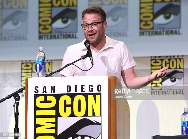 Actor/writer Seth Rogen attends AMC's 'Preacher' panel during ComicCon International 2016 at San Diego Convention Center on July 22 2016 in San...