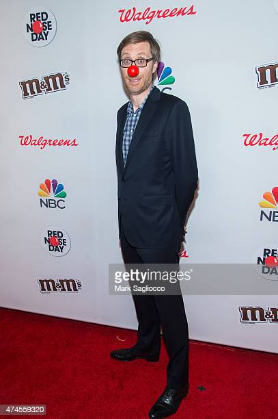 Actor/Writer Stephen Merchant attends the 2015 Red Nose Day Charity Event at the Hammerstein Ballroom on May 21 2015 in New York City