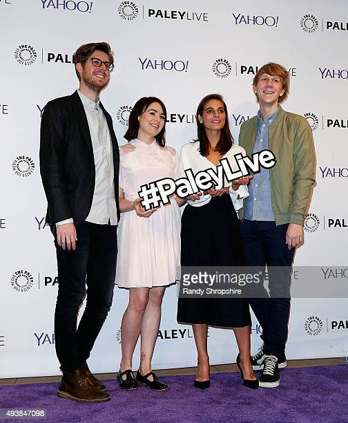 Actor/writer Thomas Ward actress Emily Barclay actress Caitlin Stasey and creator/actor Josh Thomas attend the screening of 'Please Like Me' at The...