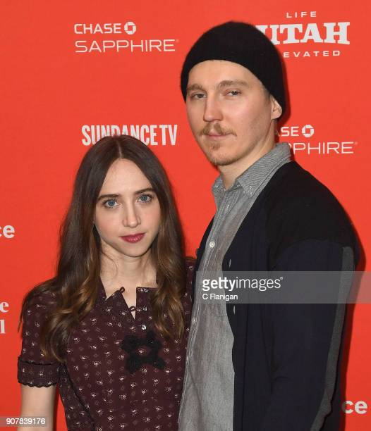 Actor/writer Zoe Kazan and Director Paul Dano attend the 'Wildlife' Premiere during the 2018 Sundance Film Festival at Eccles Center Theatre on...