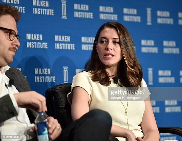 Actor/writer/cofounder Hilarity for Charity Seth Rogen and actress/writer/cofounder Hilarity for Charity Lauren Miller Rogen speak onstage at the...