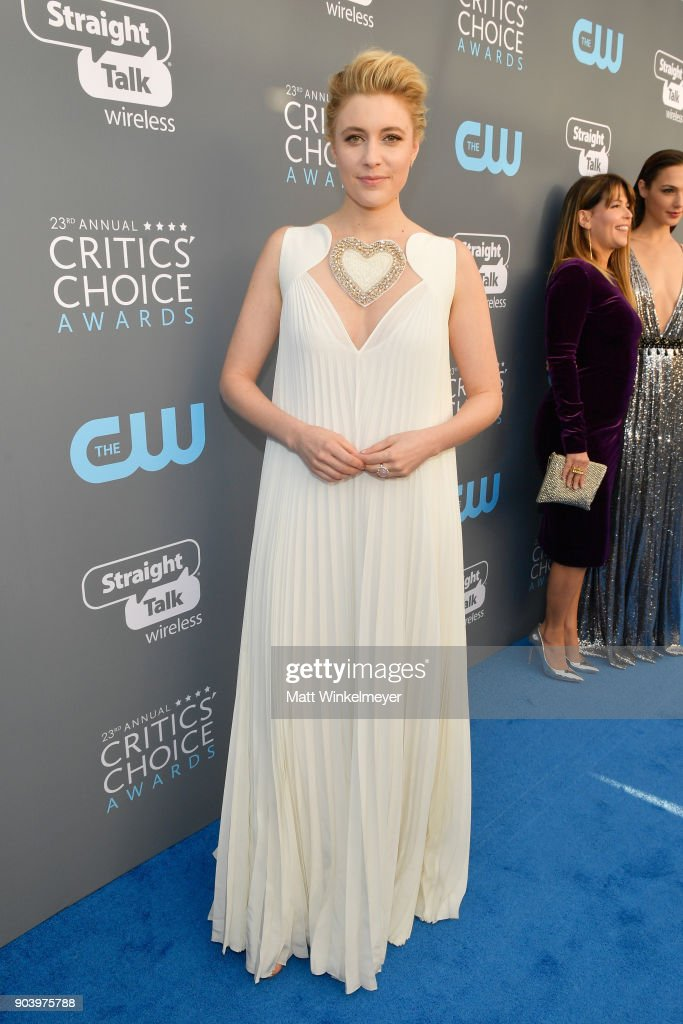 Actor/writer/director Greta Gerwig attends The 23rd Annual Critics' Choice Awards at Barker Hangar on January 11, 2018 in Santa Monica, California.