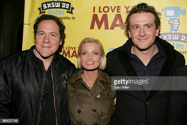 Actor/Writer/Director Jon Favreau Actress Jaime Pressly and Actor Jason Segel on the red carpet for the premiere of the new film I Love You Man...