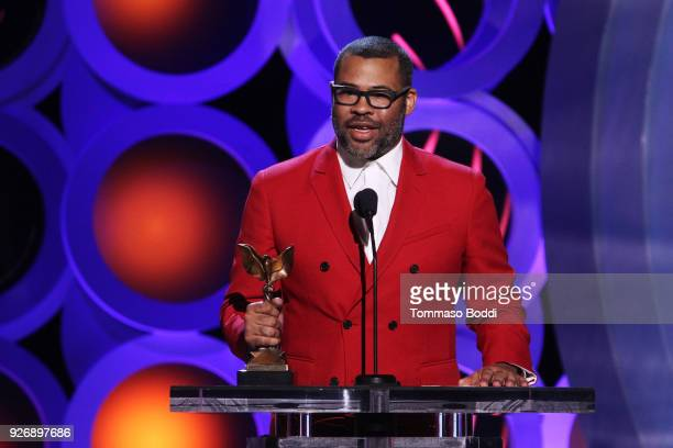 Actor/writer/director Jordan Peele accepts Best Director for 'Get Out' onstage during the 2018 Film Independent Spirit Awards on March 3 2018 in...