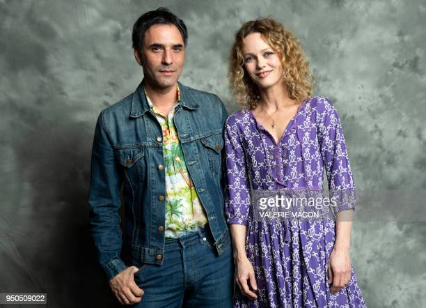 TOPSHOT Actor/writer/director Samuel Benchetrit and actress Vanessa Paradis pose during the Colcoa French Film Festival Opening night at the...