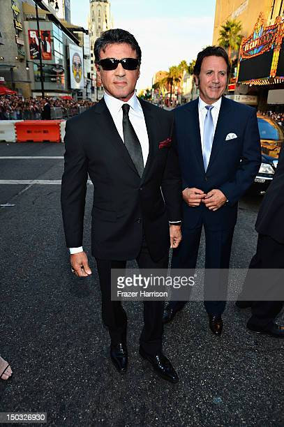 Actor/Writer/Director Sylvester Stallone arrives at Lionsgate Films' The Expendables 2 premiere on August 15 2012 in Hollywood California