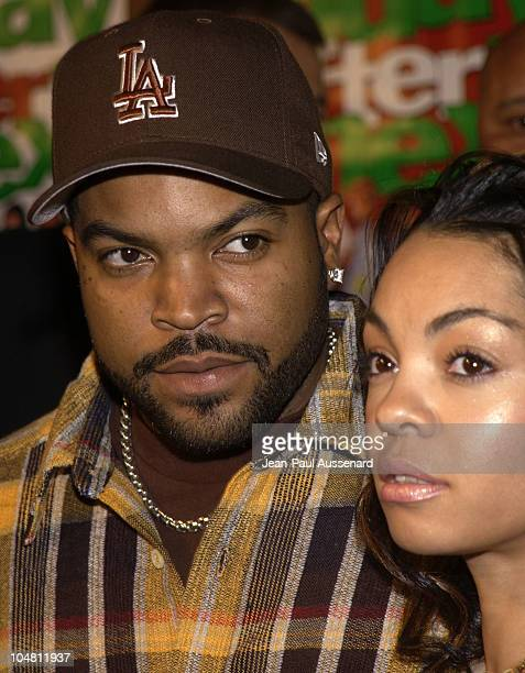 Actor/writer/producer Ice Cube wife Kimberly during Friday After Next Premiere Arrivals at Mann National in Westwood California United States