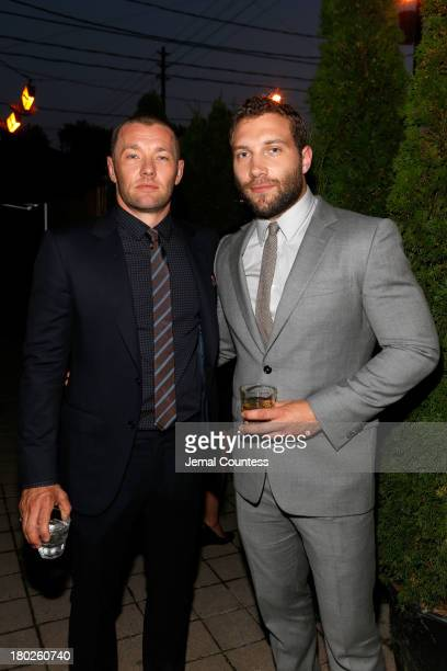 """Actor/Writer/Producer Joel Edgerton and actor Jai Courtney arrive at the """"Felony"""" Cocktail Party during the 2013 Toronto International Film Festival..."""