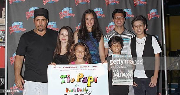 "Actor/writer/producer Joey Dedio, Fatima Ptacek; Nicolette Pierini, Gabriela Fanuele, David Castro, Dax Roy and Sebastian Martinez attend the ""Tio..."