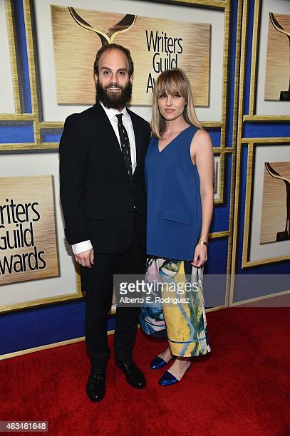 Actor-writers Ben Sinclair and Katja Blichfeld attend the 2015 Writers Guild Awards L.A. Ceremony at the Hyatt Regency Century Plaza on February 14,...