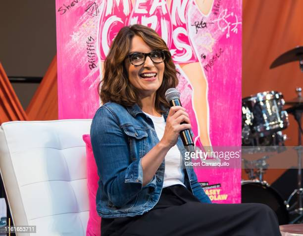 Actor/writer/show creator Tina Fey speaks onstage during 'Mean Girls' live appearance creative conversation with Tina Fey on August 14 2019 in...