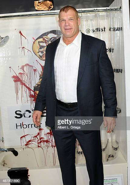 Actor/WWE Wrestler Glenn Jacobs AKA Kane arrives for ScreamFest 2014 See No Evil 2 Screening held at TCL Chinese 6 Theatres on October 15 2014 in...