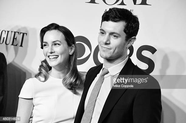 Actos Leighton Meester and Adam Brody attend the 68th Annual Tony Awards at Radio City Music Hall on June 8 2014 in New York City