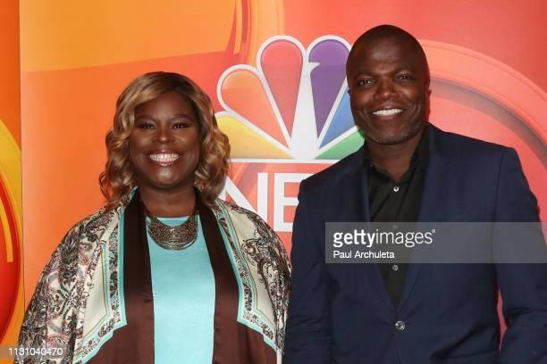 Actos Retta and Reno Wilson attend the NBC's Los Angeles midseason press junket at NBC Universal Lot on February 20 2019 in Universal City California