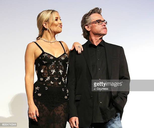 Actotrs Kate Hudson and Kurt Russell onstage during the introduction for the film 'Deepwater Horizon' during the 2016 Toronto International Film...