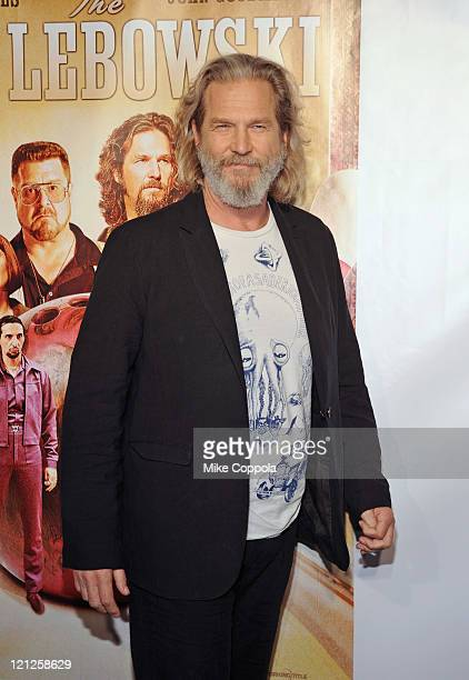 Actpr Jeff Bridges attends The Big Lebowski Bluray release at the Hammerstein Ballroom on August 16 2011 in New York City
