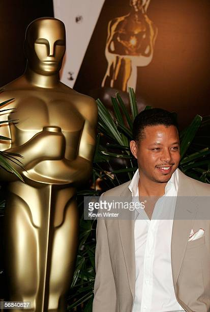 Actpr Terrence Howard arrives at the Oscar Nominees Luncheon at the Beverly Hilton Hotel on February 13 2006 in Beverly Hills California