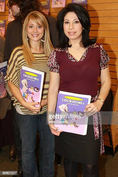 Actree Marcy Rylan and CBS News Anchor Alexis Christoforous attend attend the book launch for 'Loukoumi's Good Deeds' at Barnes Noble at Lincoln...