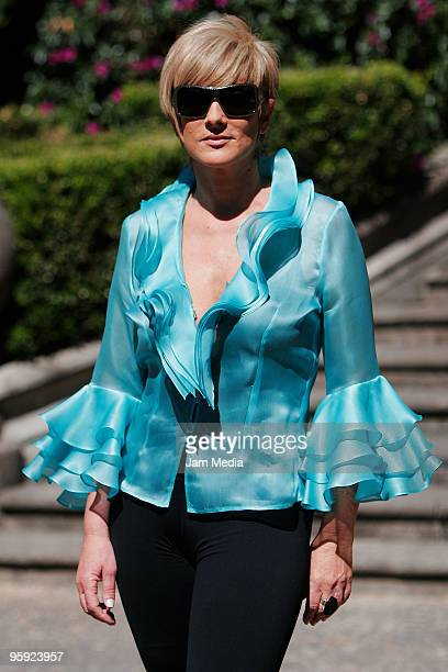Actrees Christian Bach attends the presentation of the TV Azteca's new soap opera 'Infamia' on January 20 2010 in Mexico City Mexico