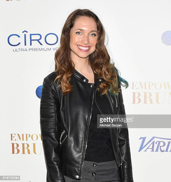 Actrees Maiara Walsh arrives at Empowered Brunch With Cindy Cowan at Four Seasons Hotel Los Angeles at Beverly Hills on April 7 2016 in Los Angeles...