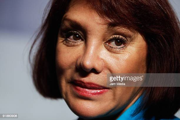 Actrees Maribel Fernandez La Pelangocha during a press conference of the play 'Un Romeo muyJulieta' at Blanquita Theater on October 13 2009 in Mexico...