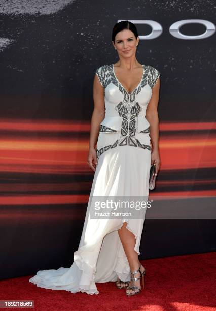 Actreess Gina Carano arrives at the Premiere Of Universal Pictures' Fast Furious 6 on May 21 2013 in Universal City California