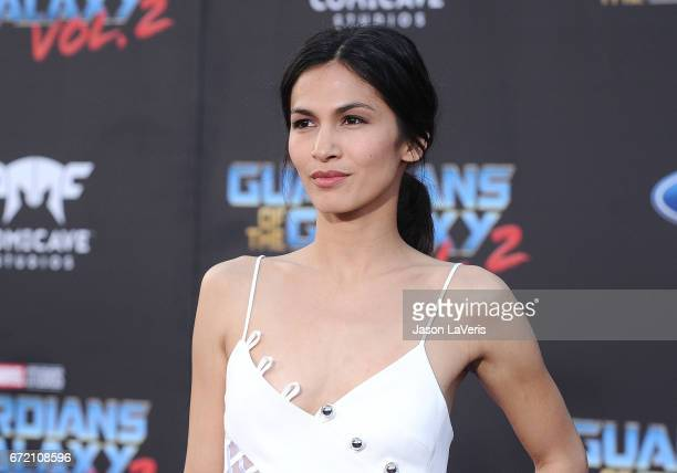 Actrerss Elodie Yung attends the premiere of 'Guardians of the Galaxy Vol 2' at Dolby Theatre on April 19 2017 in Hollywood California