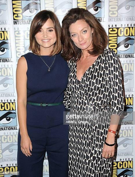 """Actrerss Jenna Coleman and actress Michelle Gomez attend BBC America's official panel for """"Doctor Who"""" during Comic-Con International 2015 at San..."""