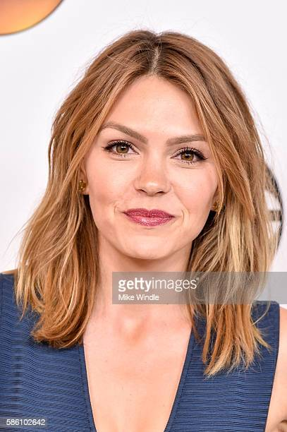 Actres Aimee Teegarden attends the Disney ABC Television Group TCA Summer Press Tour on August 4 2016 in Beverly Hills California
