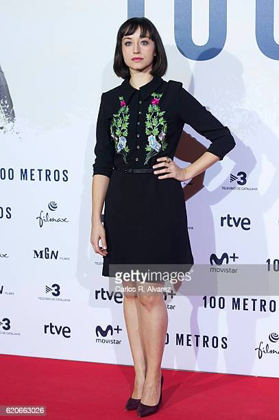 Actres Andrea Trepat attends '100 Metros' premiere at Capitol cinema on November 2 2016 in Madrid Spain