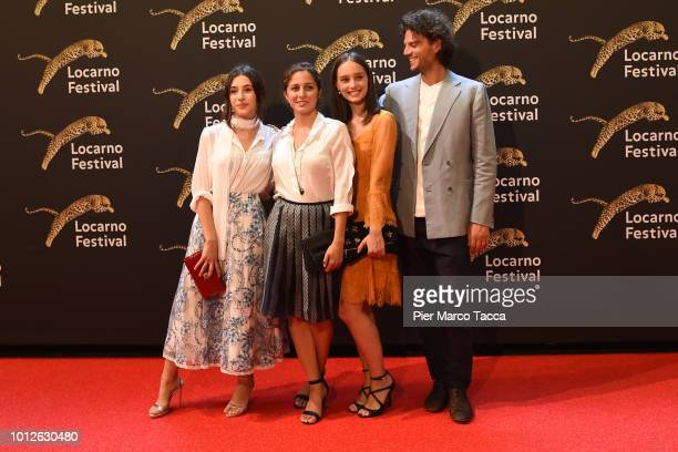 Actres Angela Fontana Actress Blu Yoshimi Actress Denise Tantucci and Director Leonardo Guerra Seragnoli attend a photocall during the 71st Locarno...