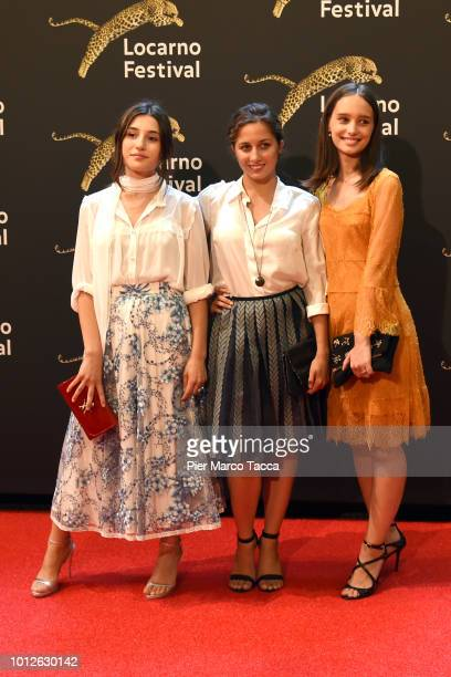 Actres Angela Fontana Actress Blu Yoshimi and Actress Denise Tantucci attend a photocall during the 71st Locarno Film Festival on August 6 2018 in...