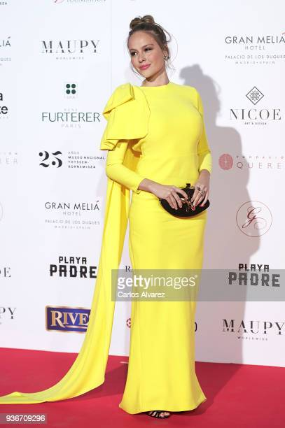 Actres Esmeralda Moya attends The Global Gift Gala at the ThyssenBornemisza museum on March 22 2018 in Madrid Spain