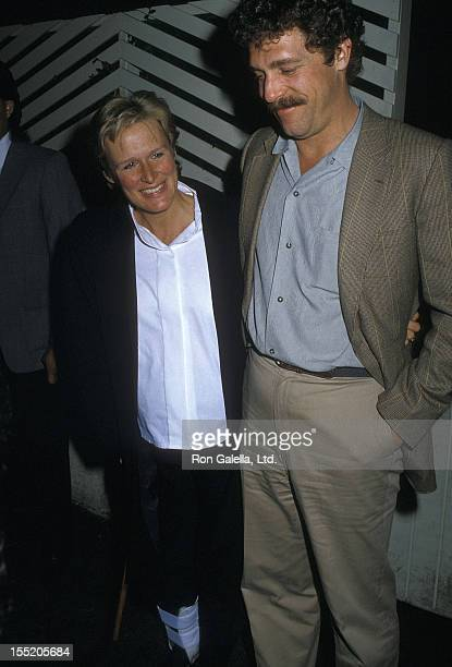 Actres Glenn Close and boyfriend John Starke on April 8 1988 dine at Spago in West Hollywood California