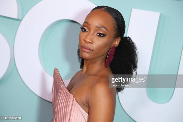 Actres Iantha Richardson attends BET's American Soul Los Angeles Premiere on February 04 2019 in North Hollywood California