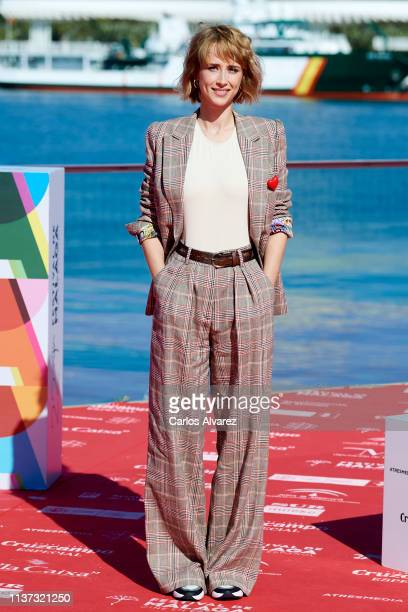 Actres Ingrid GarciaJonsson attends 'Yo Mi Mujer y Mi Mujer Muerta' photocall during the 22th Malaga Film Festival on March 21 2019 in Malaga Spain