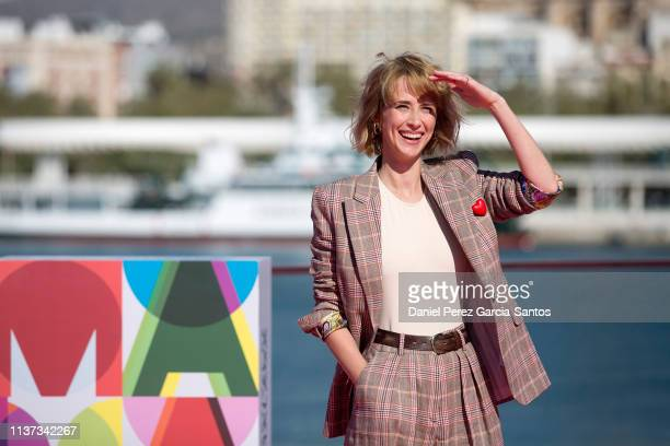 Actres Ingrid GarciaJonsson attends 'Yo Mi Mujer y Mi Mujer Muerta' photocall during the 22nd Malaga Film Festival on March 21 2019 in Malaga Spain