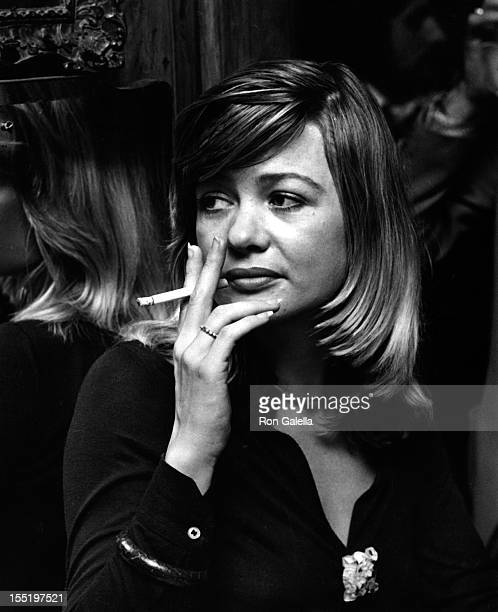 Actres Judy Geeson attends the opening of The White Elephant on October 1 1976 at the London Palladium in London England