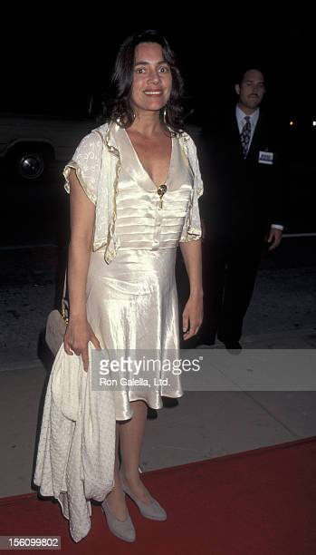 Actres Julie Carmen attends the premiere of 'My Family' on April 27 1995 at the Cinerama Dome Theater in Hollywood California