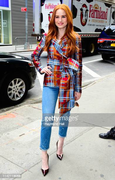 Actres Madelaine Petsch seen outside Good Morning America on May 7 2019 in New York City