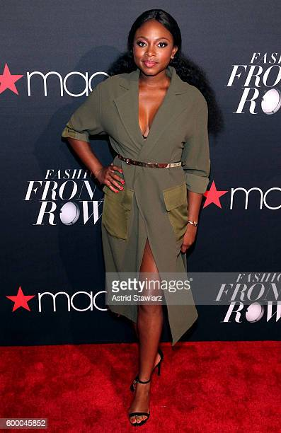 Actres Naturi Naughton attends Macy's Presents Fashion's Front Row on September 7 2016 in New York City